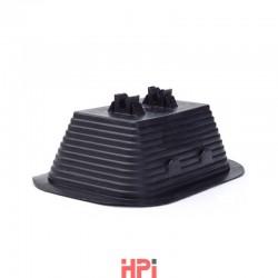 Podpěra vedení pro ploché střechy - beton / PVC 145x105 mm