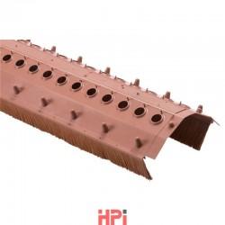 Větrací pás s kartáčem šířka 220 mm, kartáč 60 mm